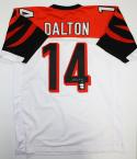 Andy Dalton Autographed White Pro Style Jersey- JSA Witnessed Authenticated