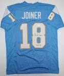 Charlie Joiner Autographed HOF Lt Blue w/ Yellow Pro Style Jersey- JSA Auth *8