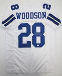 Darren Woodson Autographed White Pro Style Jersey *8- JSA Witness Authenticated