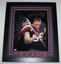 JJ Watt Autographed Houston Texans Framed 16x20 American Flag Photo- JSA W Auth/Holo