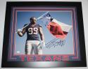 JJ Watt Autographed Houston Texans Framed 16x20 Texas Flag Photo- JSA W Auth/Holo