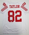 John Taylor Autographed White Pro Style Jersey W/ SB Champs- JSA Witness Authenticated