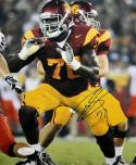 Tyron Smith Autographed 8x10 USC Trojans Maroon Jersey Photo- JSA Witness Authenticated
