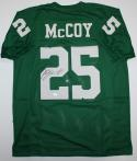 LeSean McCoy Autographed LT Green Pro Style Jersey - JSA Witnessed Authenticated