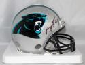 Kelvin Benjamin Autographed Carolina Panthers Mini Helmet- Beckett Authenticated