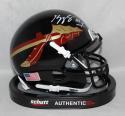 Kelvin Benjamin Autographed Florida State Seminoles Black Mini Helmet- Beckett Auth