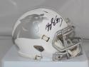 Kelvin Benjamin Autographed Carolina Panthers ICE Speed Mini Helmet- Beckett Auth