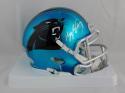 Kelvin Benjamin Autographed Carolina Panthers Blaze Speed Mini Helmet- Beckett Auth