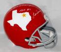 Len Dawson Autographed Dallas Texans TB F/S Helmet  W/ Inscriptions- JSA W Auth