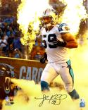 Luke Kuechly Autographed Carolina Panthers 16x20 with Fire PF Photo- Beckett Auth