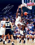 Shaquille O'Neal Autographed 16x20 LSU Tigers Dunking Photo- Beckett Authenticated