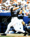 Mike Piazza Autographed Mets 16x20 in Black Jersey Photo- JSA W Authenticated