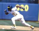 Rickey Henderson Autographed Oakland A's 16x20 Running Horz *Silver - JSA W Auth