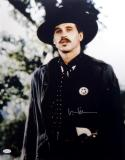 Val Kilmer Autographed Tombstone 16x20 with Badge Photo- JSA Witness Auth