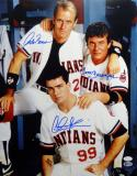 Sheen/Berenger/Bernsen Autographed Major League 16x20 Photo - JSA W/Beckett Auth