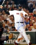 David Ortiz Autographed Red Sox Watching Hit 16x20 Photo - JSA Auth