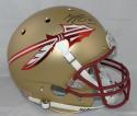 Kelvin Benjamin Autographed Seminoles Gold Matte Schutt Helmet- Beckett Auth