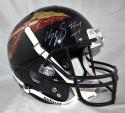 Kelvin Benjamin Autographed Seminoles Black Schutt Helmet *White- Beckett Auth
