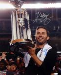 Kliff Kingsbury Autographed 16x20 Holding Trophy Photo- JSA Witness Authenticated