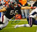 Brian Cushing Autographed 8x10 Against Patriots Photo- JSA W Authenticated