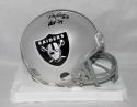 Ray Guy Autographed Oakland Raiders Mini Helmet W/ HOF and JSA Witnessed Auth