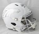 Peyton Manning Autographed Denver Broncos F/S ICE Helmet- JSA Witnessed Auth