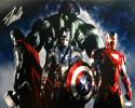 Stan Lee Autographed *Left 16x20 Avengers Photo- JSA Authenticated