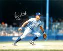 George Brett Autographed KC Royals 16x20 Color Fielding PF Photo- Beckett Auth