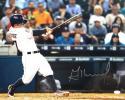 Jose Altuve Autographed Houston Astros 16x20 Batting In White Photo- JSA W Auth