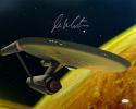 William Shatner Autographed Star Trek 16x20 Starship Enterprise Photo *C-JSA W Auth