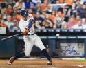 George Springer Autographed *Blue Houston Astros 16x20 Swinging Photo-JSA W Auth