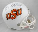 Barry Sanders Autographed OSU White Full Size Riddell Helmet- JSA Witnessed Auth