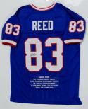 Andre Reed Autographed Blue Pro Style Stat1 Jersey With HOF- SGC Auth