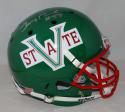 Jerry Rice Autographed *Silver Mississippi Valley F/S Schutt Helmet-Beckett Auth