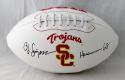 O. J. Simpson Autographed USC Trojans Logo Football W/ Heisman- JSA W Auth