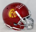 O. J. Simpson Autographed USC Trojans F/S Schutt Helmet W/ Heisman- JSA W Auth