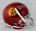 O. J. Simpson Autographed USC Trojans F/S Chrome Helmet W/ Heisman- JSA W Auth