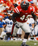 Patrick Willis Autographed Ole Miss Rebels 16x20 Vertical Running Photo-JSA Auth