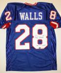 Everson Walls SB Champs Signed / Autographed Blue Pro Style Jersey- JSA Auth