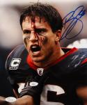 Brian Cushing Autographed 8x10 Bloody Face Color *Blue Photo- JSA W Auth