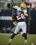 Brooks Reed Autographed 16x20 Aaron Rodgers Hit Photo- JSA W Authenticated