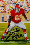 Will Shields Autographed Kansas City Cheifs Goal Line Art Card- JSA Auth