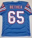 Elvin Bethea HOF Signed / Autographed Blue Pro Style Jersey- JSA Authenticated