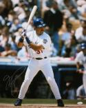 Mike Piazza Autographed 16x20 Vertical Dodgers At Bat Photo- JSA W Authenticated