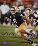 Manti Te'o Autographed 8x10 Vertical Running Photo- JSA Authenticated