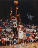 David Robinson Autographed 16x20 Shooting Over Clippers Photo- TriStar Auth