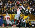 Hakeem Nicks Autographed 16x20 Against Green Bay Photo- JSA Authenticated