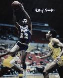 Elgin Baylor Autographed 16x20 In Air Front View Photo- JSA Authenticated
