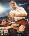 Barry Switzer Autographed OU Sooners 16x20 On Shoulders Photo- JSA Auth