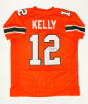 Jim Kelly Autographed Orange College Style Jersey- JSA W Authenticated